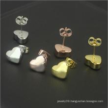 Fashion Ladies Stud Earrings Stainless Steel Jewelry Heart Stud Earrings (hdx1146)