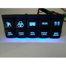 DC12V / 24V Auto / Marine Boot Dual LED Licht Laser geätzt Wippschalter