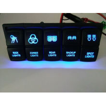 DC12V/24V Car/Marine Boat Dual LED Light Laser Etched Rocker Switches