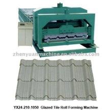 El azulejo esmaltado de la azotea que forma la máquina, teja esmaltada que forma la línea de producción de la máquina