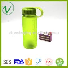 Transparente PCTG cilindro vacío 400ml botella de agua de plástico con boca ancha