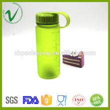 Transparent PCTG empty cylinder 400ml plastic water bottle with wide mouth