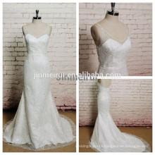 Real Mermaid Robe de wedding dress Sexy Backless Bridal Gowns Lace Spaghetti Strap Wedding Dresses 2017