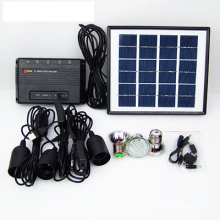 3W/5W/10W Solar Home System Li Battery 3 * LED Bulbs