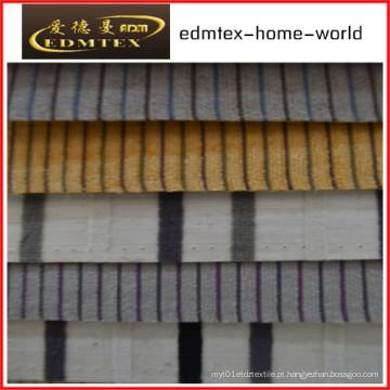 Tecido liso do Chenille para a embalagem do sofá nos rolos (EDM0254)