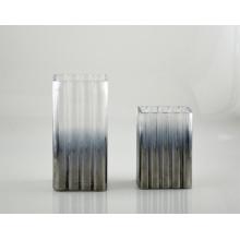 Vaso de vidro em francês cinza