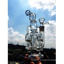 2016 Dubble Recycler Glas Rauchen Rohr