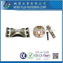 Taiwan Acier inoxydable 18-8 Raccords galvanisés en laiton en cuivre Raccords métalliques pour jambes de chaise Accessoires de châssis de table Swivel Hardware