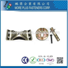 Taiwan Aço inoxidável 18-8 Cobre Latão Acessórios galvanizados Acessórios metálicos para cadeira Jornais Mesa Swivel Hardware Acessórios para cadeiras