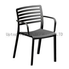 Chaise de salle à manger à bras en polypropylène en plein air (sp-uc025)