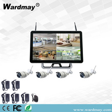 Kits NVR de 4CH 1.3 / 2.0MP Wifi com monitor de 15 ""
