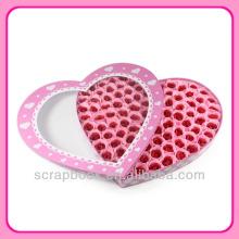 Flor del melocotón corazón 100pcs rosas jabón