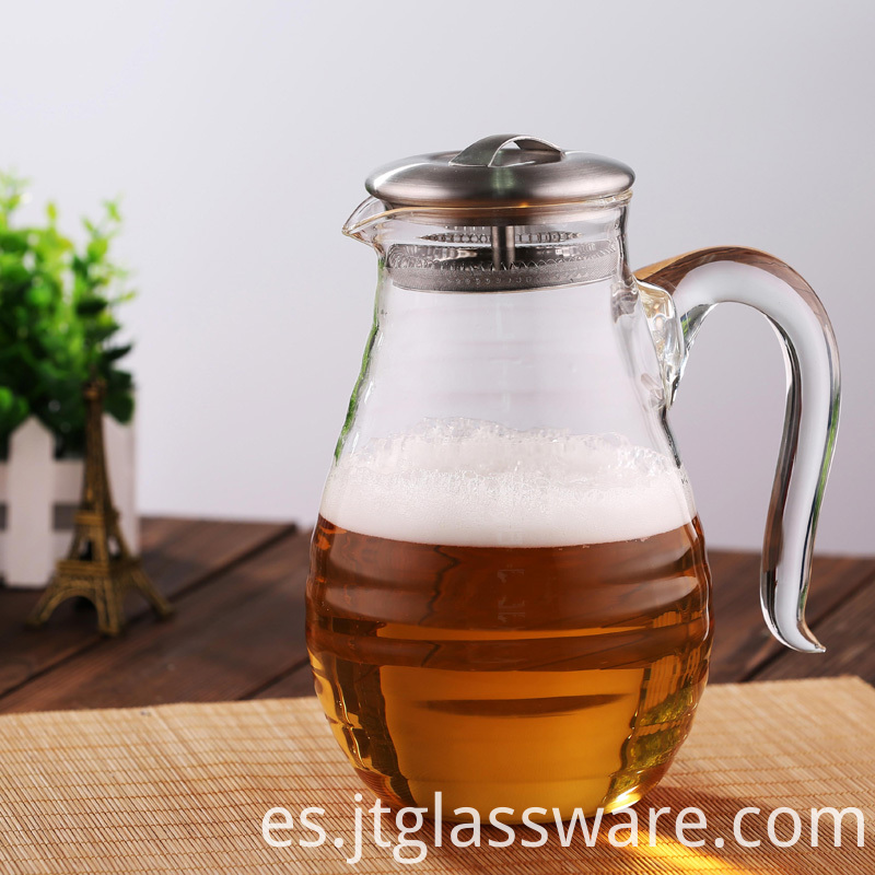 Juice Beverage Glass Pitcher