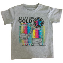 Camiseta 100% algodón niño en ropa infantil con estampado Sqt-603