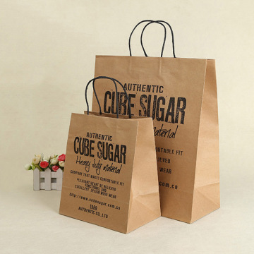 Factory supplied for Kraft Paper Shopping Bags Custom Order Personal Use Brown Kraft Paper Bag export to France Importers