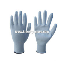 13G Nylon/Polyester Liner White PU Work Glove (5537)