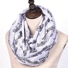Chegada nova design exclusivo senhoras imprimir várias cores loop lenço cachecol hijab dubai