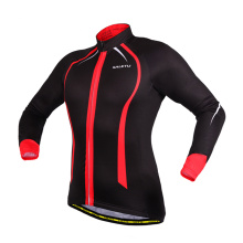 Sublimation Print Super Warm Autumn Winter Thermal Fleece Cycling Jacket