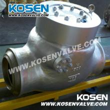 Литой стальной давление уплотнения обратный клапан (H64Y)