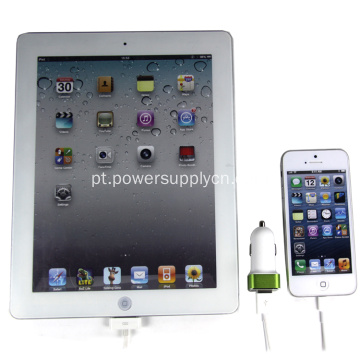 2.4A Dual USB-Port Carregador de carro para Iphone