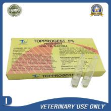 Médicaments vétérinaires de l'injection de progestérone 50 mg (1 ml)