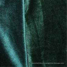 Tissus de velours coréen émeraude tissu de daim manteau de mode