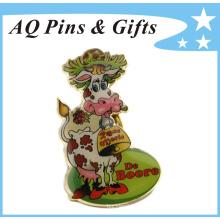 Oro de latón de impresión offset pin de solapa en grandes detalles (badge-170)