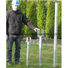 Solarenergie High DIP Galvanisierte Bodenschraube, Bodenanker