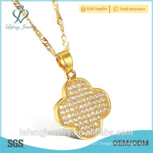 Hot sale cheap jewelry cheap diamond white gold plated necklace