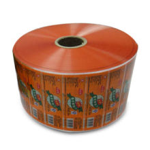 Plastic protective film roll in laminated materials, used for packing foods and snacks