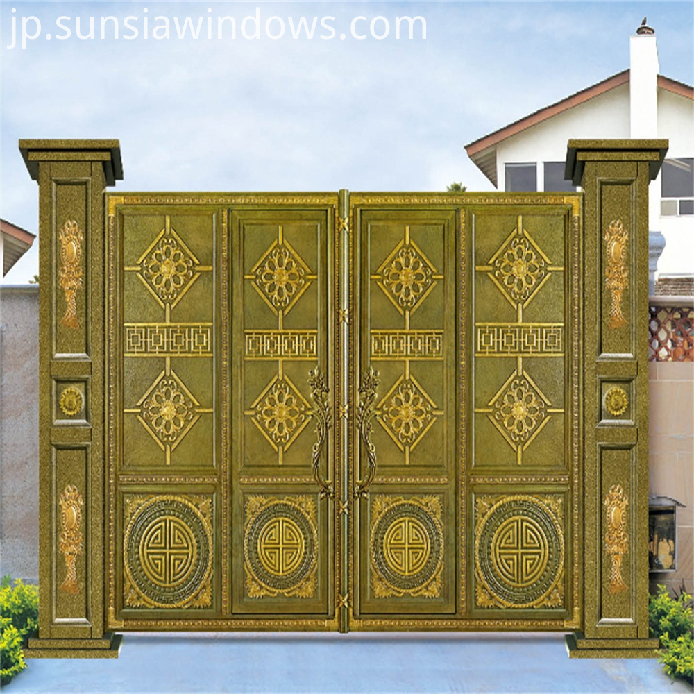 Aluminum Courtyard Entry Doors