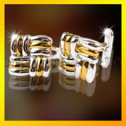 Two Tone Golden Fashion Accessory Cuff Link