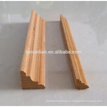 молдинг из тикового дерева / декоративные настенные рамы / деревянные декоративные уголки