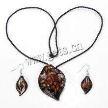 Gets.com 2015 lampwork Ensemble de bijoux en or africain