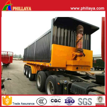 Box Open Hydraulic Self Tipper Semi Truck Container Dump Trailer