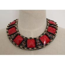Hochwertige rote Zirkon Kostüm Modeschmuck Halskette (JE0039-3)