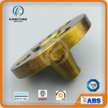 Flange forjada da soldadura do pescoço do aço de carbono ASME B16.5 (KT0388)