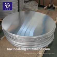 Feuille ronde en aluminium de 3mm d'épaisseur