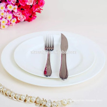 Placa de cena blanca de cerámica al por mayor