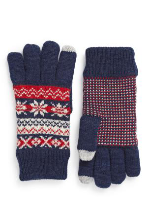 Ladies knitted gloves with screen touch