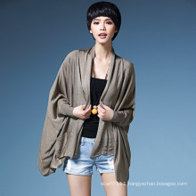 Lady Fashion Viscose Knitted Pocket Cardigan Sweater (YKY2064)