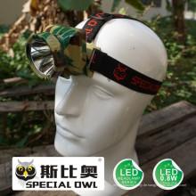 0.8W 1W LED Scheinwerfer, 1PC * Li-Poly Batterie Camping Outdoor Kohle Bergmann Lampe Bergbau Scheinwerfer schwimmende Licht, Angeln Licht