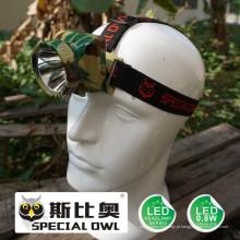 Farol LED de 0.8W 1W, 1PC * Bateria Li-Poly Acampamento Outdoor Coal Miner Lâmpada Farol de mineração Luz flutuante, luz de pesca