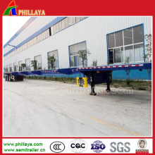 Three Axles Long Equipment Transport Extendable Trailer