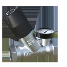 Válvula de control termostática de acción automática