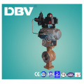 Pneumatic Actuator Carbon Steel Wcb V Type Wafter Ball Valves