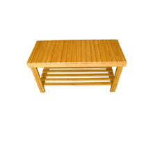 Good Quality for  2-Tier Natural Bamboo Shoe Rack Bench export to Iceland Factory