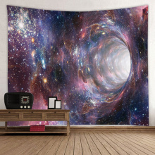 Starry Tapestry Galaxy Tapestry Night Sky Wall Hanging Star Hole Drukowanie 3D Tapestry Psychedelic Wall Art do salonu Bedro