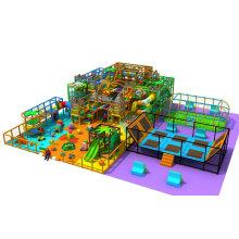 Parque de juegos interior Trampoline Park Family Fun Play Center para niños