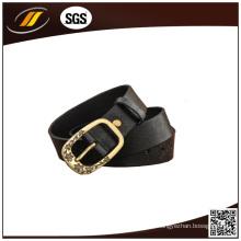 Cinturão feminino de couro genuíno de estilo clássico